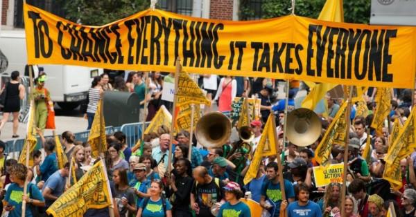 Global warming rally